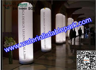 China Colorful Inflatable Decoration LED Light Column Ripstop Fabric distributor