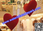 China 1m Heart  Inflatable Decoration , Hanging Inflatable Wedding Decorations distributor