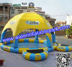 PVC Flexible Kids Cool  Inflatable Pool Toys With Tent Cover for sale