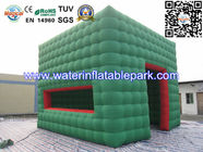 China Green Cube Inflatable Cube Tent / Inflatable Marquee Tent For Advertising distributor
