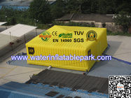 Yellow Festival Giant Inflatable Cube Tent , Inflatable Large Storage Tent Custom for sale