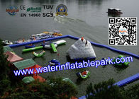 Cool Inflatable Floating Water Park for Lake , Promotion Family Resort With Waterpark for sale