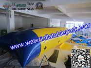 China Blue And Yellow  Inflatable Water Blob , Inflatable Water Jumping Pillow distributor