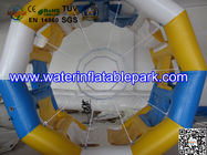 China Cylinder Inflatable Water Roller Ball , Inflatable Fun Roller Water Games distributor