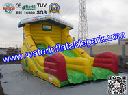 China Yellow Super Fun Hire Inflatable Slide With family theme parks distributor