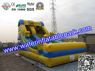 China Kids Minions Inflatable Bouncy Slide / Inflatable Slide For Amusement Park distributor