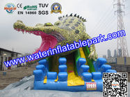China Commercial Crocodile Inflatable Slide , Inflatable Water Slide For Rental distributor