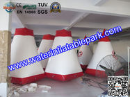 China Red and White Inflatable Paintball Air Bunkers Custom Made , 3 Years Warranty distributor