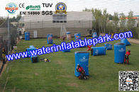 Blue Inflatable Paintball Bunker , 0.6mm  / 0.9mm PVC Airups Bunkers for sale