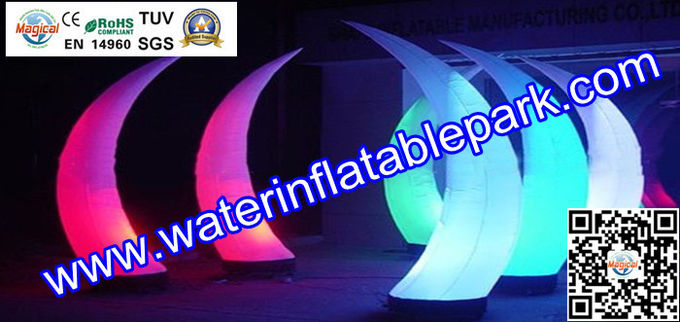 Decorative Inflatable Tusk With Garden Color Changing LED