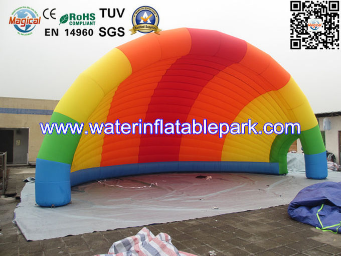 Colorful  Cover Inflatable Tent Shell Shape , Inflatable Advertising Tent