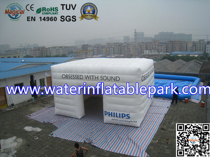 PVC Promotion Inflatable Air Tent 4 Seams Stitching With Logo Printing